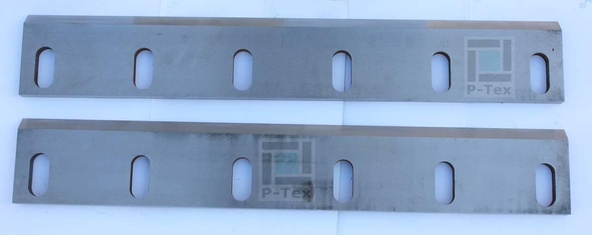 Нож неподвижный для дробилки Hao Yu HY7-A25 с размерами 633-100-17 из стали HARDOX 600