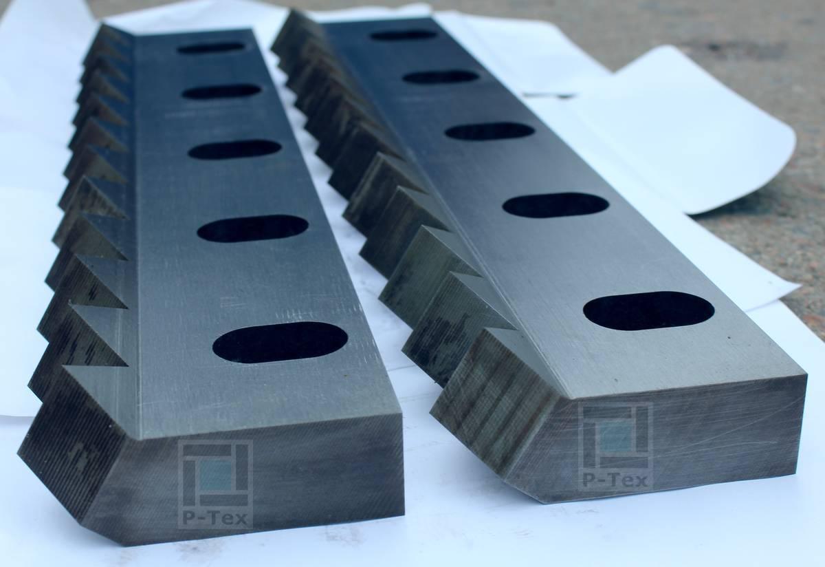 Статорные центральные ножи для шредера FSS1-1500 с размерами 504-106-47
